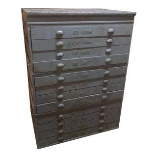 """Vintage Toledo """"Economy"""" Drafting Blueprint Cabinet"""