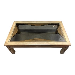 Southwestern Beveled Glass Coffee Table