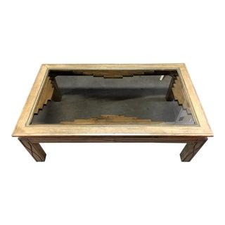 Southwestern Beveled Glass Coffee Table