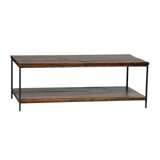 Reclaimed Wood & Iron Coffee Table