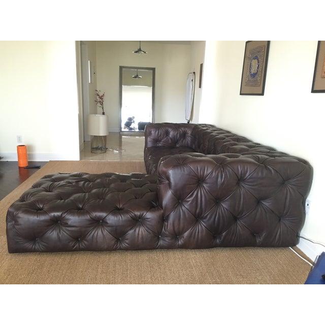 Restoration hardware soho tufted sectional sofa chairish for Restoration hardware tufted sectional sofa