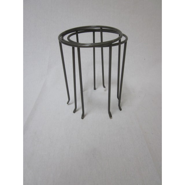 Modernist Wrought Iron Plant Stands - Set of 3 - Image 5 of 10