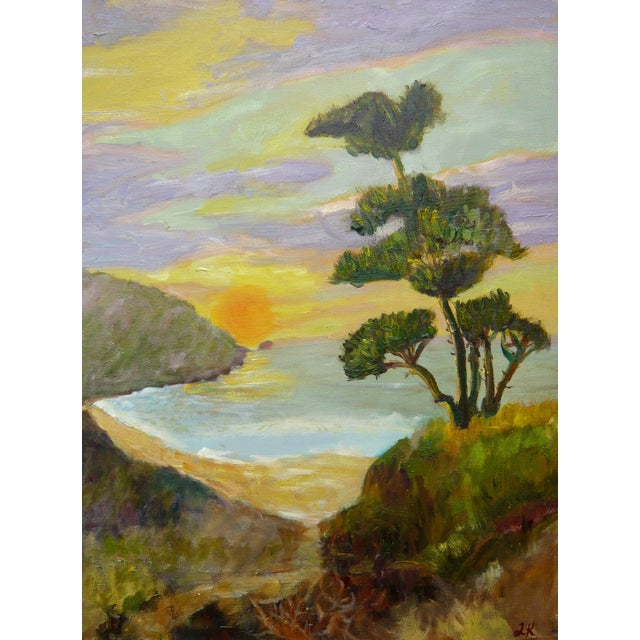Sunset in Monterrey, CA Plein Air Painting - Image 1 of 4