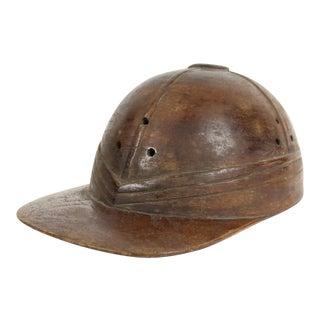 Wooden Jockey Cap Figure