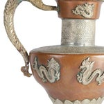 Image of Vintage Silver And Copper Tea Pot