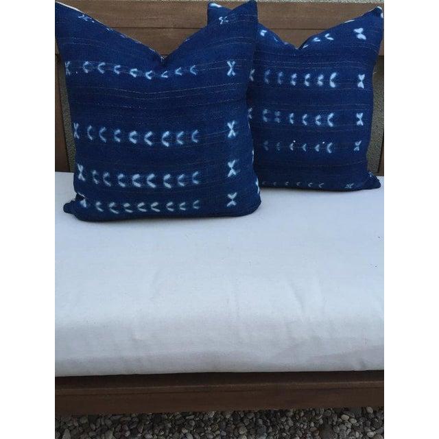Vintage Indigo Textile Pillow - Image 5 of 5