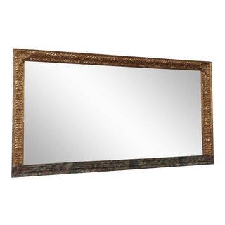 A 19th Century Italian Giltwood Horizontal Mirror
