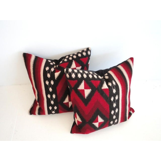 Image of Fantastic Early Geometric Indian Weaving Pillows
