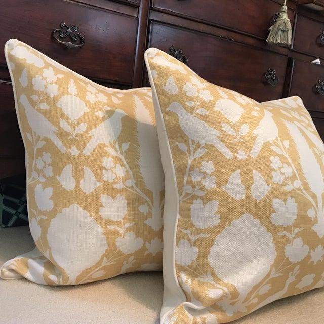 Schumacher Chenonceau Linen Pillows - A Pair - Image 3 of 7