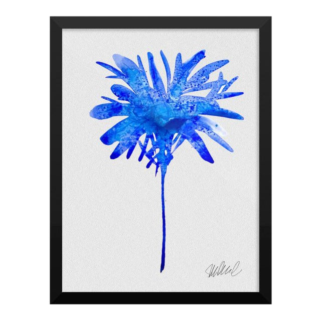 Framed Blue Botanical Print - Image 1 of 3