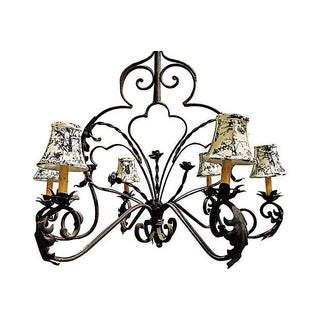 Wrought Steel French Country Chandelier