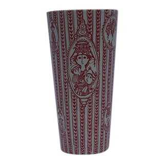 Red & White Bjorn Wiinblad Vase