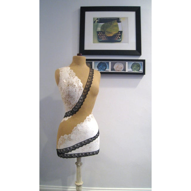 Lacy Mannequin with Antique Cast Iron Base - Image 4 of 8