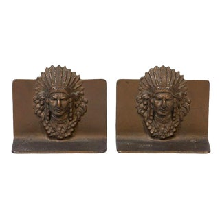 Native American Bookends - a Pair