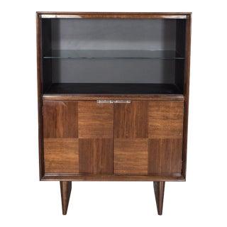 Art Deco Walnut Bar or Cabinet Designed by Gilbert Rohde for Herman Miller