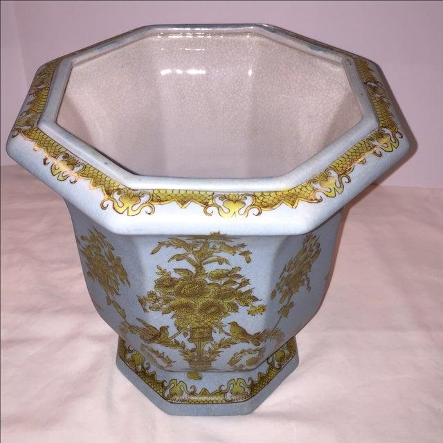 Chinese Octagonal Porcelain Planter - Image 3 of 6