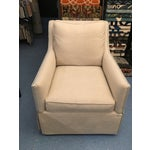 Image of CR Laine Skirted Linen Occassional Chair