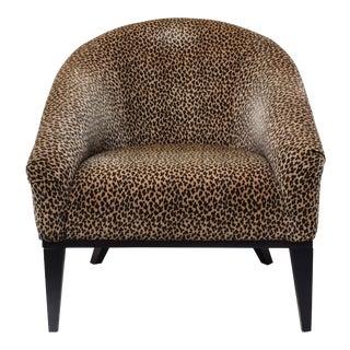 Velvet Leopard Print Lounge Chair