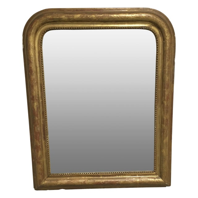 Arched Antique Mirror - Image 1 of 10