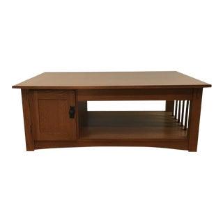 Vintage Mission Style Walnut Coffee Table