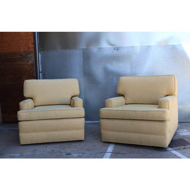 Mid-Century Tweed Chairs - A Pair - Image 3 of 6