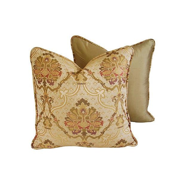 Custom Italian Old World Tapestry Pillows - A Pair - Image 5 of 7