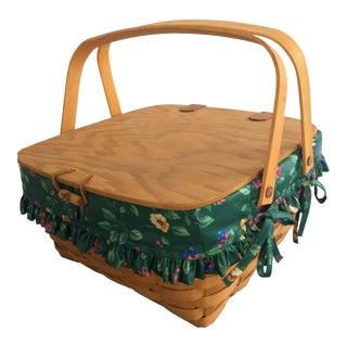 Longaberger Lined Picnic Basket