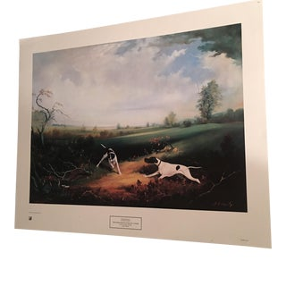"Bernard De Claviere ""Two Pointers Hunting By a Pond"" Print"