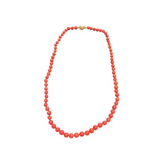 "Vintage Natural 17"" Red Coral Necklace"