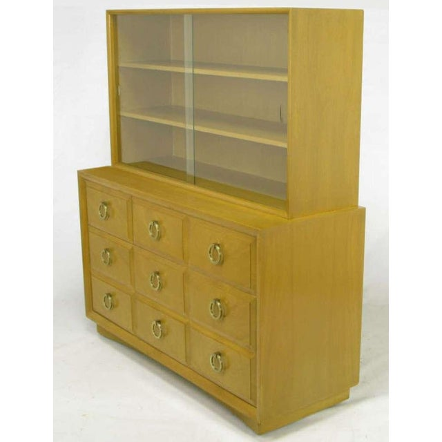 T.H. Robsjohn-Gibbings Attributed Mahogany Display Cabinet With Drawers - Image 2 of 9