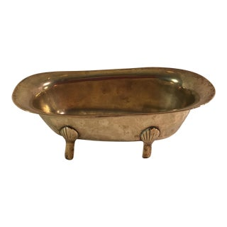 Mid-Century Modern Brass Footed Bathtub