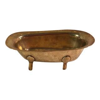 Mid-Century Modern Brass Footed Bathtub