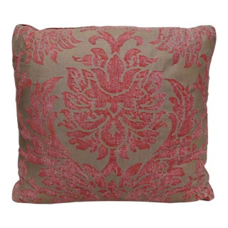 Gold and Burnt Orange Fortuny Pillow