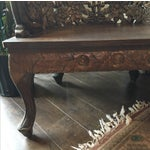 Image of Ornately Carved Wooden Asian Accent Chair