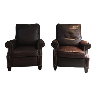 Leather Reclining Chairs - A Pair