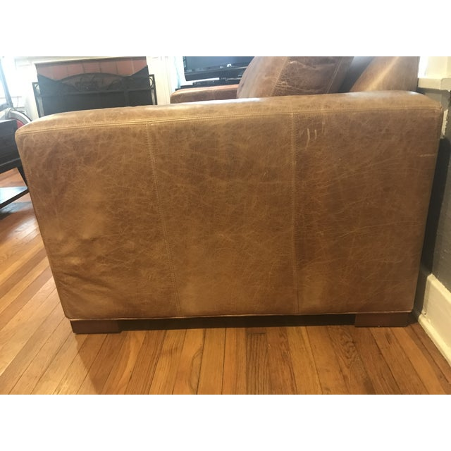 Hudson Brown Leather Sofa by Ethan Allen - Image 3 of 5