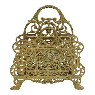 French Brass Letter Desk Organizer