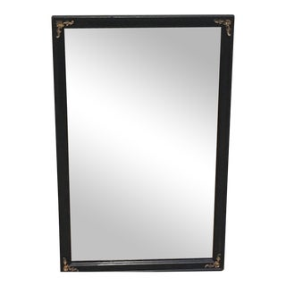 Antique Black Wood Framed Mirror