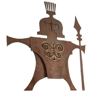 Metal Gladiator Wall Sculpture