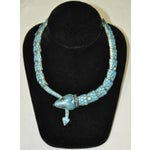Image of Sterling Silver & Enamel Snake Necklace