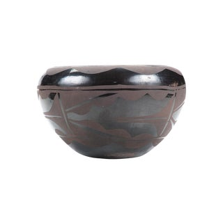 Native American Vintage Blackware Pueblo Bowl