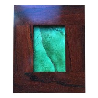 Custom Handmade Vintage Exotic Wood Frame