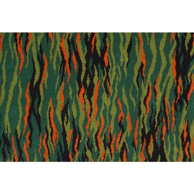 Image of Green Mid-Century Modern Rug - 2′3″ × 4′6″