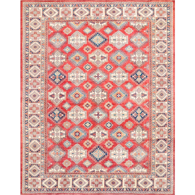 "Kazak Hand Knotted Wool Rug - 12'5"" x 15'8"" - Image 1 of 2"