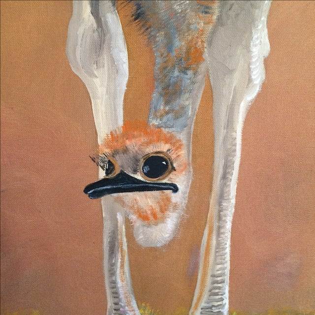 """Image of """"Big Birds Don't Fly"""" Original Oil Painting"""