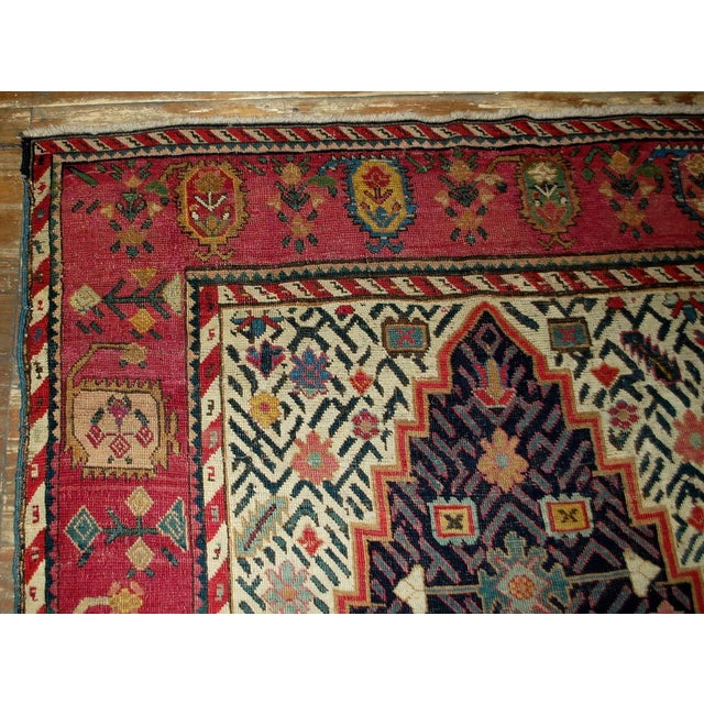 1880s Antique Hand Made Caucasian Karabagh Rug- 4′6″ × 11′7″ - Image 9 of 10