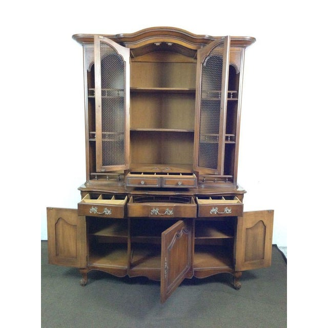 French Provincial-Style Oak Hutch - Image 3 of 4