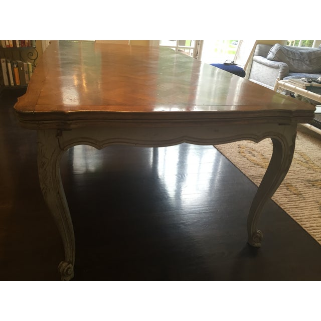 French Country Parquetry Top Dining Table - Image 4 of 6