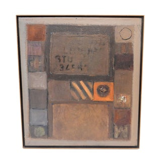 1994 Jose Guedez Original Abstract Oil Painting