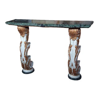 Marble Top Wall Mount Console by Maison Jansen